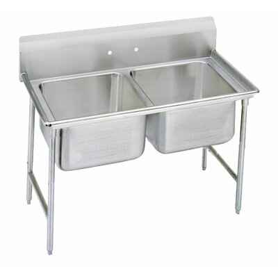 900 Series 52 x 27 Double Seamless Bowl Scullery Sink