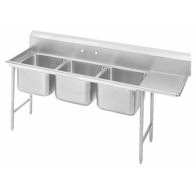 T-9 Series 89 x 27 Triple 3 Compartment Scullery Sink