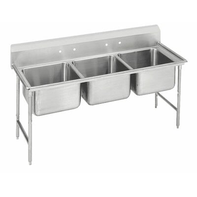 930 Series 62 x 27 Triple Seamless Bowl Scullery Sink
