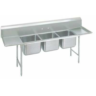 930 Series Triple Seamless Bowl Scullery Sink Length: 91
