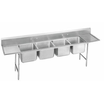 930 Series 97 x 27 Seamless Bowl  4 Compartment Scullery Sink