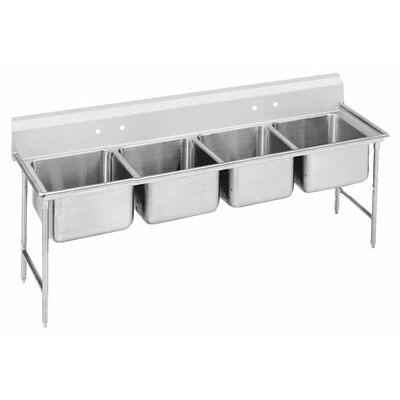 930 Series 89 x 31 Seamless Bowl 4 Compartment Scullery Sink