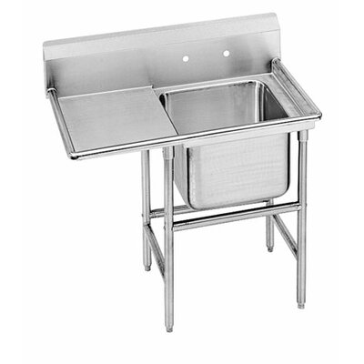 940 Series 58 x 27 Single Seamless Bowl 1 Compartment Scullery Sink
