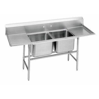 900 Series Seamless Double Bowl Scullery Sink Length: 72