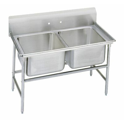 940 Series 48 x 31 Double Seamless Bowl Scullery Sink
