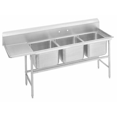 940 Series Triple Seamless Bowl Scullery Sink Length: 83