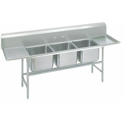 940 Series Triple Seamless Bowl Scullery Sink Length: 133
