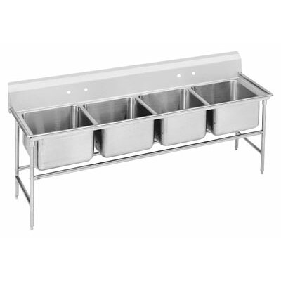 940 Series 89 x 31 Seamless Bowl 4 Compartment Scullery Sink