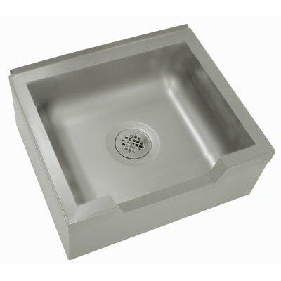 Single Floor Mounted Mop Sink Size: 12 H x 25 W x 21 D