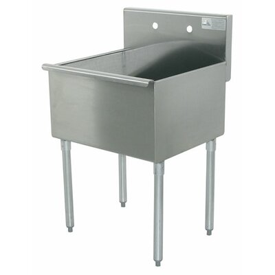 600 Series Single 1 Compartment Floor Service Sink Size: 41 H x 21 W x 24 D