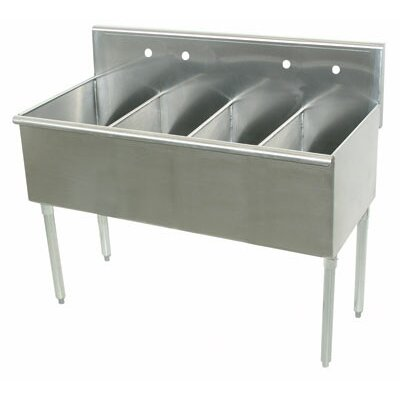 600 Series 4 Compartment Floor Service Sink Size: 41 H x 21 W x 72 D