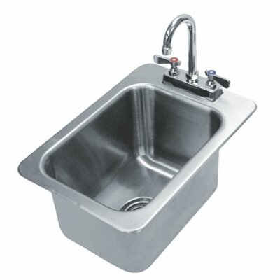 304 Series Single 1 Compartment Drop-in Hand Sink with Faucet Size: 5 H x 12 W x 14 D