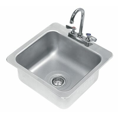 304 Series 19 x 19 Single Seamless Bowl Drop-in Hand Sink with Faucet