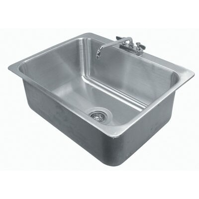 304 Series 31 x 25 Single Seamless Bowl Drop-in Sink with Faucet