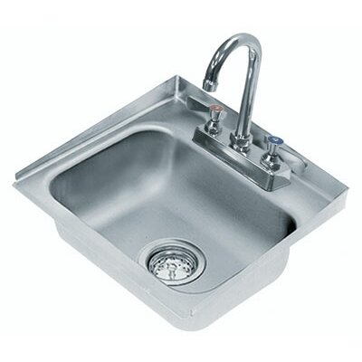 304 Series 16 x 15 Single Seamless Bowl Drop-in Hand Sink with Faucet