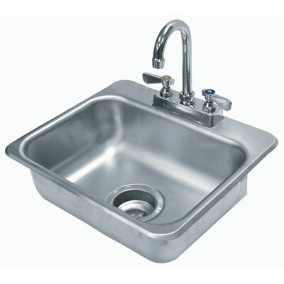 304 Series 17 x 15 Single Seamless Bowl Drop-in Hand Sink with Faucet