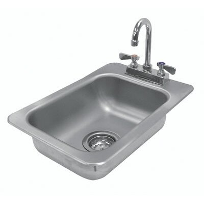 304 Series 13 x 19 Single Seamless Bowl Drop-in Hand Sink with Faucet