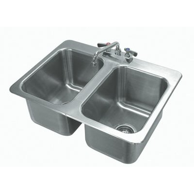 304 Series 25.5 x 19 Double Seamless Bowl Drop-in Sink with Faucet