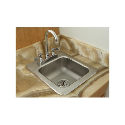 31 x 25 Single 1 Compartment Seamless Bowl Drop In Hand Sink
