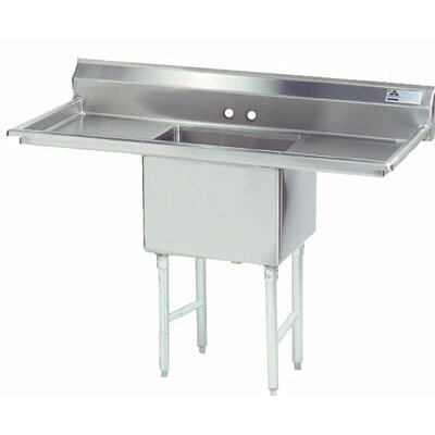 Single Fabricated Bowl 1 Compartment Scullery Sink Size: 43 H x 66 W x 29 D