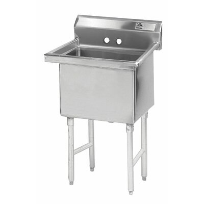 Single Fabricated Bowl 1 Compartment Scullery Sink Size: 43 H x 23 W x 29 D