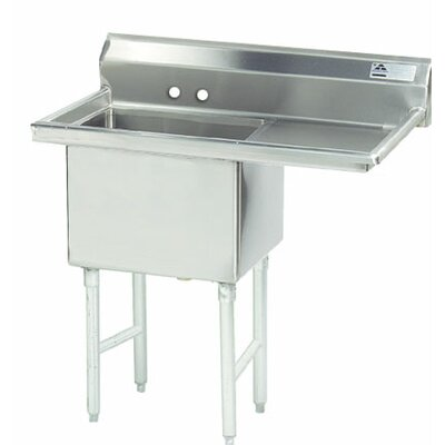 74.5 x 29 Single Fabricated Bowl Scullery Sink