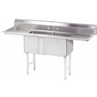 54 x 30 Double Fabricated Bowl Scullery Sink