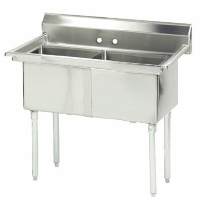 Double Fabricated Bowl 2 Compartment Scullery Sink Size: 43 H x 41 W x 24 D