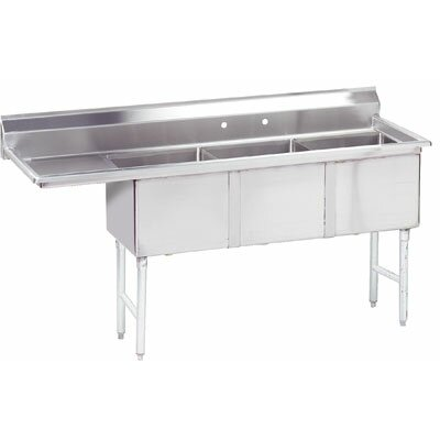 Triple Fabricated Bowl 62.5 x 20.5 3 Compartment Scullery Sink