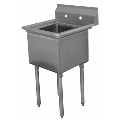Economy Single Fabricated Bowl 1 Compartment Scullery Sink Size: 43 H x 23 W x 23.75 D