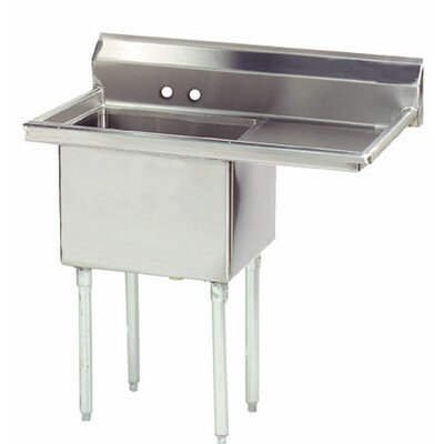 Economy 38.5 x 23.75 Single Fabricated Bowl Scullery Sink