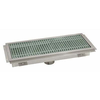 Floor Trough Grid Shower Drain Size: 7 H x 98 W x 20 D