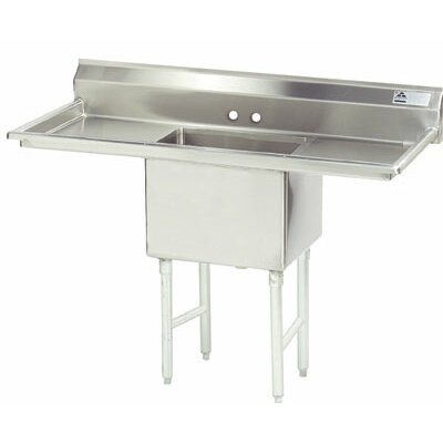 Single Fabricated Bowl 1 Compartment Scullery Sink Size: 43 H x 60 W x 29 D