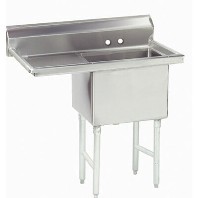 38.5 x 24 Single Fabricated Bowl 1 Compartment Scullery Sink