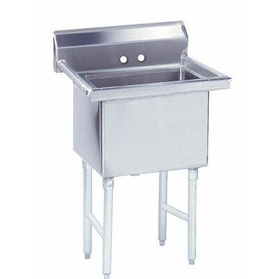 Fabricated Bowl 23 x 24 Single 1 Compartment Scullery Sink
