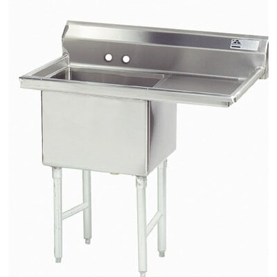 38.5 x 24 Single Fabricated Bowl Scullery Sink