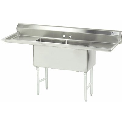 96 x 30 Double Fabricated Bowl Scullery Sink