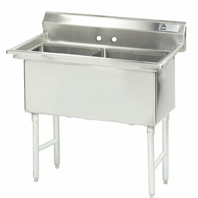 Single Fabricated Bowl 1 Compartment Scullery Sink Size: 43 H x 53 W x 29 D