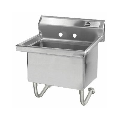 Single Wall Mount Service Sink Size: 30.75 H x 27 W x 21.5 D