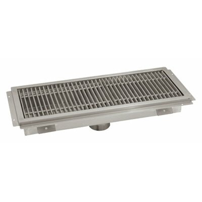 Floor Trough Grid Shower Drain Size: 24 D x 42 W