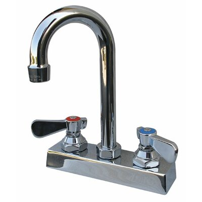 Heavy Duty Deck Mount 10.6875 High Gooseneck Faucet with 4 Centers