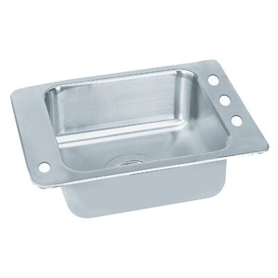 Single Seamless Bowl Classroom Drop-in Sink Size: 25 W x 17 D