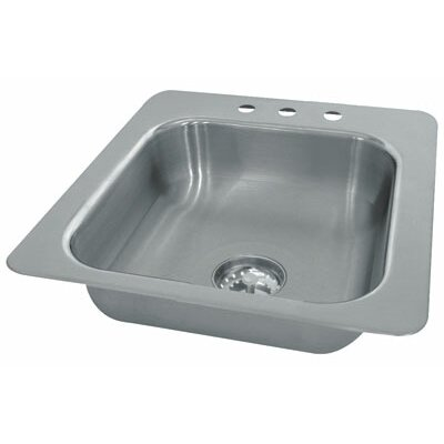 Single Seamless Bowl 1 Compartment Drop-in Hand Sink Size: 7 H x 17 W x 19 D