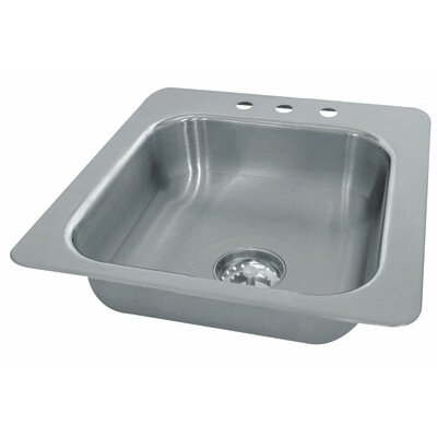 Single Seamless Bowl 1 Compartment Drop-in Hand Sink Size: 12 H x 19 W x 19 D