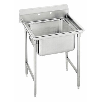 T-9 Series 25 x 27 Single 1 Compartment Scullery Sink