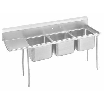 T-9 Series 77 x 27 Triple 3 Compartment Scullery Sink
