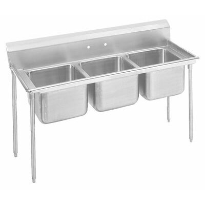 900 Series 62 x 27 Seamless Triple Bowl Scullery Sink