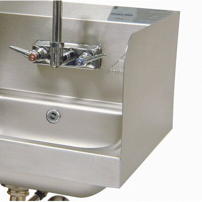 High Welded Side Splash for Sinks With Bowl and Splash Mount Faucet