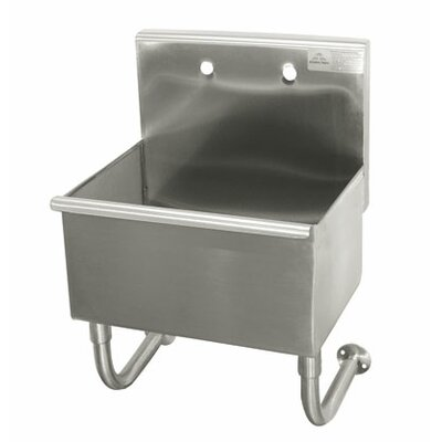 Single Wall Mounted Service Sink Size: 32 H x 22 W x 19.5 D