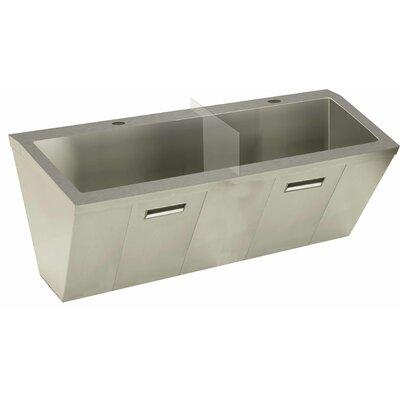Wall Mount Scrub Sink Size: 26 H x 60 W x 23 D